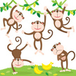 Monkey,Ape,Hanging,Cute,Smi...