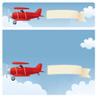 Airplane,Banner,Pulling,Sign,Biplane,Message,Red,String,Model Airplane,Towing,Cloud - Sky,Flying,Sky,Toy,Web Banner,Pilot,Propeller,Aviator Glasses,Copy Space,Blank,Shiny