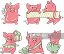 Animal,Pig,Cut Out,Domestic...