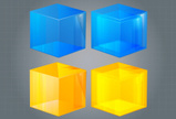 Cube Shape,Glass - Material...