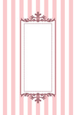 Striped,Pink Color,Frame,Ba...