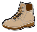 Work Boot,Boot,Brown,Isolat...