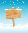 Sign,Wood - Material,Snow,P...