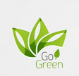 Vector go green paper background