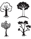 Root,Silhouette,Tree,Vector...