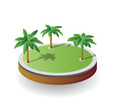 Isometric,Palm Tree,Tree,Na...
