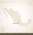 Mexico,Map,Black Color,Blue...
