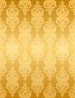 Floral Pattern,Gold Colored...