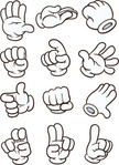 Fist,Palm of Hand,Cut Out,Vector,Glove,Human Body Part,Illustration,Thumbs Up,Human Hand,Cartoon,No People,Gesturing,Pointing