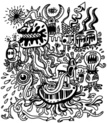 Spooky,Monster,Humor,Graffiti,Cute,Doodle,Alien,Animal Eye,Ilustration,Bizarre,Surreal,Human Face,Cartoon,Human Tongue,Collection,Demon,Pig,Human Head,Computer Graphic,Human Teeth,Set,Black Color,Human Mouth,Pattern,Ugliness,White,Fantasy,Characters,Halloween,Snake,Group Of Animals,Isolated,Horned,Animal,Men,Vector,Blood,Animal Head,Crying,Genetic Mutation,Eccentric,Drawing - Art Product