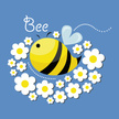 Bee,Characters,Text,Abstrac...