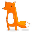 Fox,Cartoon,Animal,Mammal,I...