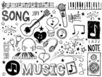 Musical Note,Doodle,Music,G...
