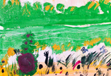 Child's Drawing,Landscape,G...