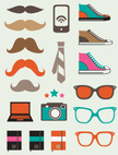 Hipster,Symbol,Icon Set,Coo...