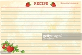 Old Fashioned Recipe Card Template - Strawberries