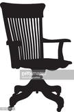 Chair,Back Lit,Black And Wh...