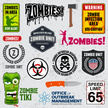Zombie,Sign,Human Skull,Mil...