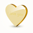Gold Colored,Heart Shape,Lo...