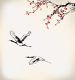 Bird,Crane,Japan,Watercolor...