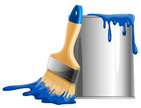 Bucket,Paintbrush,Paint,Hom...