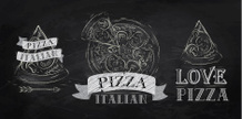 Pizza,Blackboard,Ilustratio...
