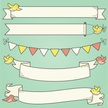 Banner,Doodle,Bird,Pennant,Scroll,Holding,Drawing - Art Product,Ribbon,Coral Colored,Hand-drawn,Green Background,Sketch,Cute,Vector,Flowing,Flying,Clip Art,Yellow,Cartoon,Green Color,Curled Up,Ilustration,Carrying,Blank,Pink Color