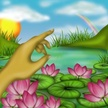 Water Lily,Flower,Human Han...