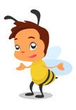 Bee,Wasp,Cheerful,Insect,An...