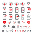 Mobile communication icons
