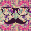 Mustache,Hipster,Triangle,B...