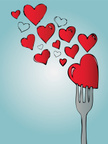 Heart Shape,Fork,Drawing - ...