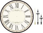 Clock Face,Old-fashioned,Re...