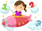 Airplane,Clip Art,Child,Col...