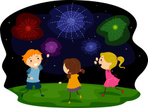 Firework Display,Clip Art,C...