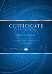 Certificate,Blue Background...