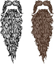 Beard,Large,Vector,Ornate,H...