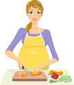 Pregnant,Cooking,Adult,Illu...