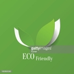 Green and white icon for eco friendly background