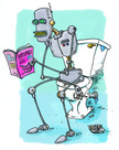 Robot,Toilet,Broken,Cartoon...