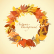 Autumn,Wreath,Leaf,Yellow,V...
