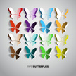 Butterfly - Insect,Set,Pape...