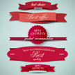 Text,Red,Ribbon,Set,Label,C...