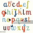 Colorful little-boy themed alphabet set
