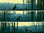 Forest,Deer,Silhouette,Wood...