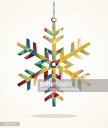 Merry Christmas snowflake shape with triangle composition EPS10 file