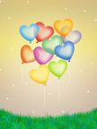 Heart Shape,Balloon,Sky,Sil...