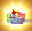 Gift,Shiny,Box - Container,...