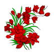 Flower,Leaf,Red,Ilustration
