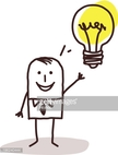 Man With An Idea Light Bulb